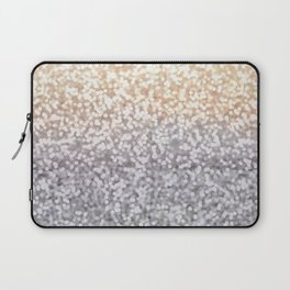 Champagne and Gray Glitter Ombre Laptop Sleeve