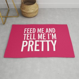 Feed Me Funny Quote Rug
