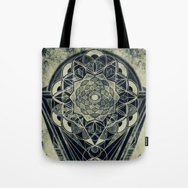 Sacred Geometry for your daily life -  Galactic OHM Tote Bag