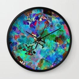 Hawaiian Jungle Batik Wall Clock