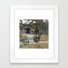 Garden Forest Framed Art Print