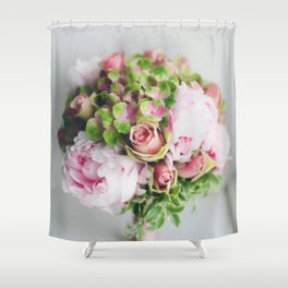 Wedding Bouquet - Roses, Peonies & other loveliness Shower Curtain