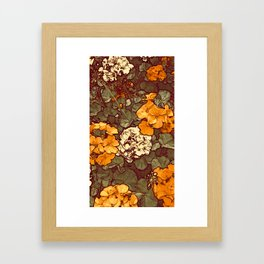 Orange Geranium, Plant of Feminine Healing Framed Art Print