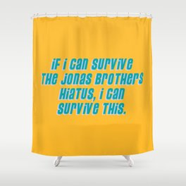 If I Can Survive The Jonas Brothers Hiatus, I Can Survive This Shower Curtain