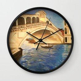 Venezia pomeriggio Wall Clock