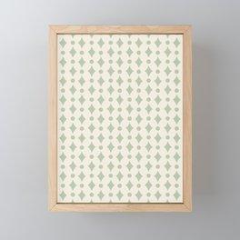 Vintage Jewels - Sage Framed Mini Art Print