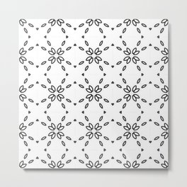 Black and White MINIMAL 02 Metal Print