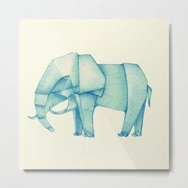 Paper Elephant Metal Print
