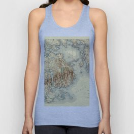 Map Of Acadia National Park 1931 Unisex Tank Top
