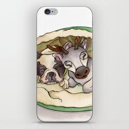 Bubba & Sleeping Reindeer iPhone Skin
