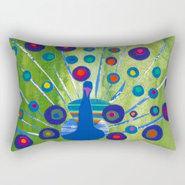 Polka dot peacock Rectangular Pillow