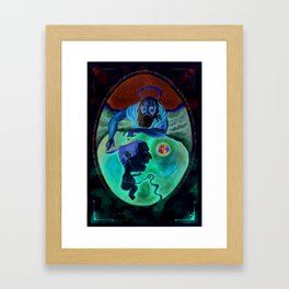 An accident waiting to happen. Framed Art Print