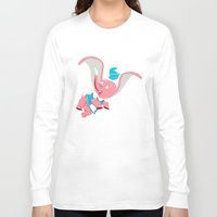 dumbo Long Sleeve T-shirts featuring Dumbo Double Dare by Kyle Anderson