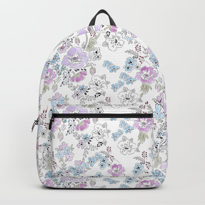 Watercolor . Spring .1 Backpack