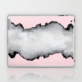 Blush Pink Gray and Black Graphic Cloud Effect Laptop & iPad Skin