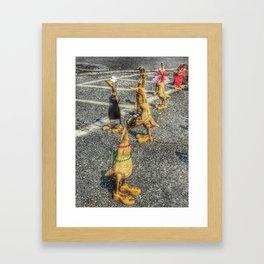 The Duck Invasion Framed Art Print