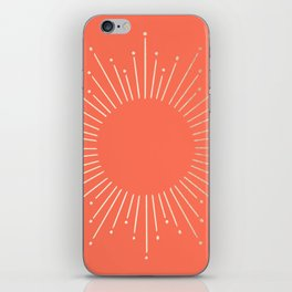 Simply Sunburst in Deep Coral iPhone Skin