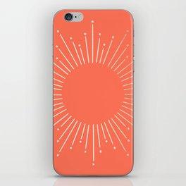 Simply Sunburst in Deep Coral iPhone Skin