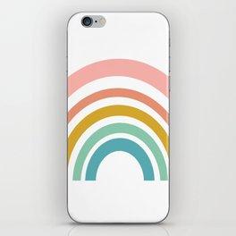 Simple Happy Rainbow Art iPhone Skin