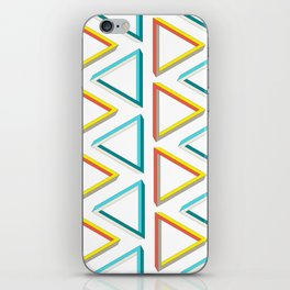 Impossible triangles geeky pattern. iPhone Skin