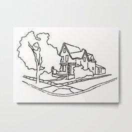 Dearborn Street Sketch Metal Print