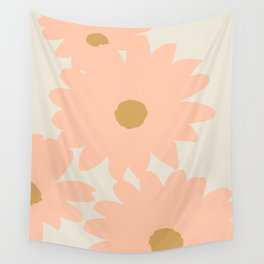 Peach Flowers | Abstract Illustration Wall Tapestry