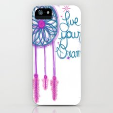 Live Your Dreams - White iPhone (5, 5s) Slim Case