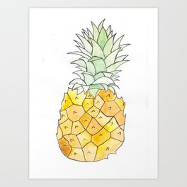 Pineapple (Painting the Hunger Away Project) Art Print