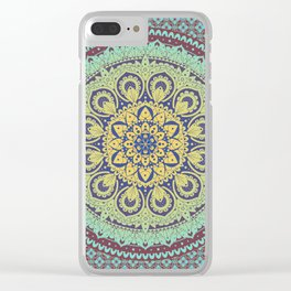 Traditional Mandala Design Clear iPhone Case