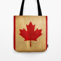 canada Tote Bags featuring Canada by NicoWriter