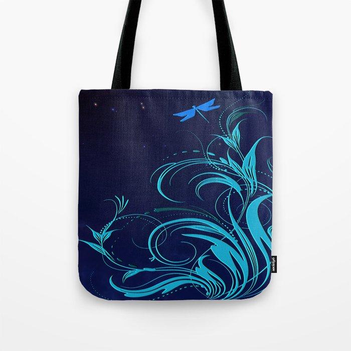 Good Night Dragonfly Tote Bag