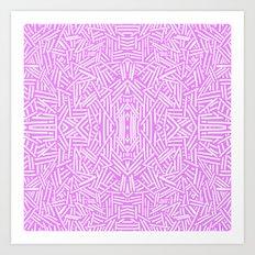 Radate (Lilac) Art Print