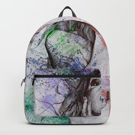 The Withering Spring: Wine (nude tattooed girl with flowers) Backpack