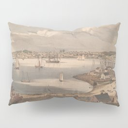 Vintage Pictorial Map of Gloucester MA (1836) Pillow Sham