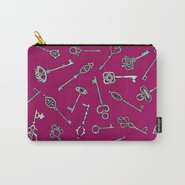Skeleton Keys Burgundy Carry-All Pouch
