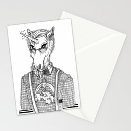 Ironic Hipster Unicorn Stationery Cards