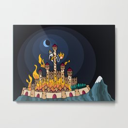 Burning Lanka Metal Print