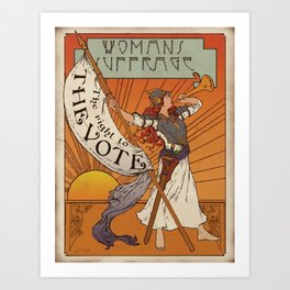 Women's Suffrage - The Right To The Vote Art Print