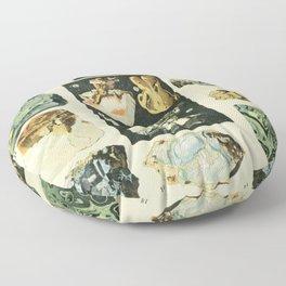 Vintage Minerals Chart Floor Pillow