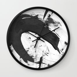 B + W Strokes 6 Wall Clock