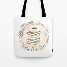 BOOKS & COFFEE Tote Bag