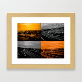 Riding on the metro, orange crush Framed Art Print