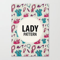Lady pattern Canvas Print