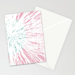 Pink Doodle Floral by Friztin Stationery Cards