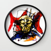 boxing Wall Clocks featuring Boxing Beckett by Genco Demirer