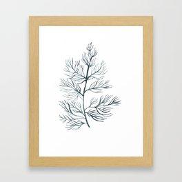 Indigo Seaweed Framed Art Print