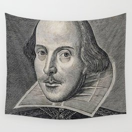 William Shakespeare Portrait Wall Tapestry
