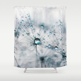 dandelion blue Shower Curtain