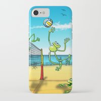 volleyball iPhone & iPod Cases featuring Olympic Volleyball Frog by Zoo&co on Society6 Products