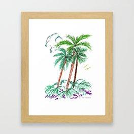 """""""Triplet Palms"""" Framed Art Print"""